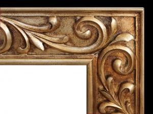 Miroir mural en bois sculpté