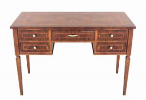 Schreibtisch 5 Schubladen - Einlegearbeit