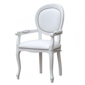 Stuhl mit Armlehnen weiß L.Philippe