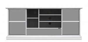 TV-Lowboard Schwarz 2 Türen