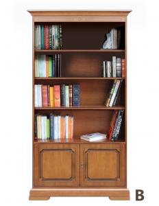 Bücherschrank 2 Türen  mit Einlegeböden