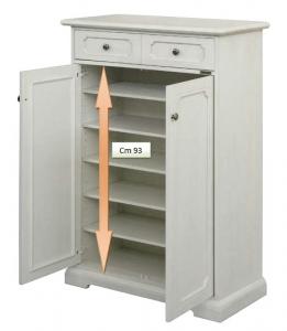 Schuhschrank mit Türen lackiert Tilly