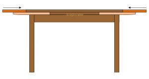 Table rectangulaire extensible 180-280 cm