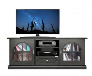 Meuble Tv Bas noir 150 cm largeur
