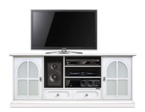 TV-Möbel mit Glastüren Home Cinema