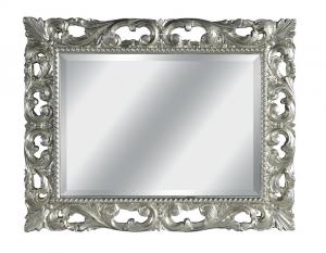 Miroir sculpté feuille or ou argent