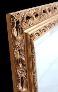 Miroir rectangulaire finition à la feuille