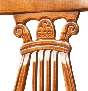 Chaise Lyre en bois massif