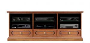 Meuble Tv 3 tiroirs et étagères