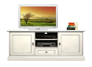TV-Lowboard lackiert 2 Schranktüren