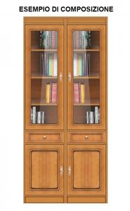 Bibliothèque étroite multifonction