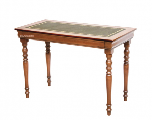 Bureau Style Louis Philippe dessus en cuir