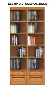 Bücherregal mit 2 Schubladen Höhe 220 cm