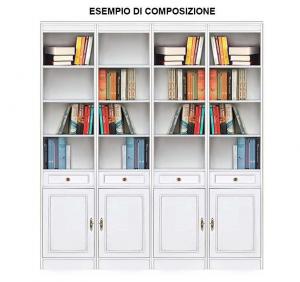 Bücherregal mit Holz Tür und Schubladen