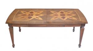 PROMO ! Table extensible bois massif et marqueterie