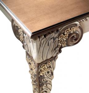 Tisch rechteckig geschnitzt 180 cm Fenice