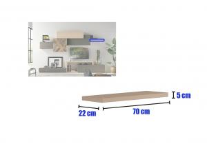 Wohnwand Holz Design Kollektion Mytetris Nr. 8