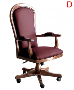 Klassischer Bürostuhl in Leder oder Kunstleder