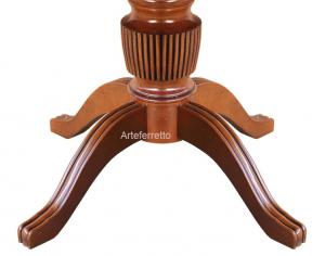 Klassischer Tisch ausziehbar Durchmesser 100 cm Stub