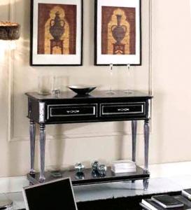 Console sculptée largeur 120 cm avec 2 tiroirs