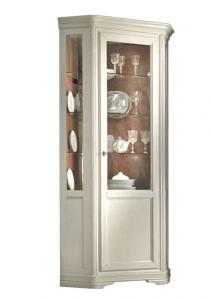 Meuble vitrine d'angle hauteur 215 cm