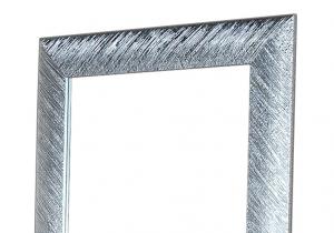 Wandspiegel rechteckig glänzendes Silberblatt