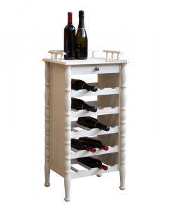 Range bouteilles de style classique en bois