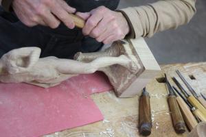 Sculpture sur bois - Inspiré du David de Michel-Ange