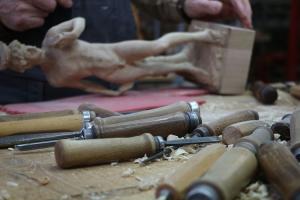 Holzschnitzerei David von Michelangelo