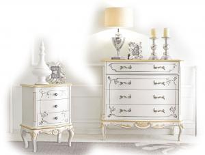 Nachttisch Weiß Gold White Gold