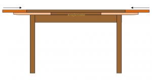 Table salle à manger marquetée 170-250 cm