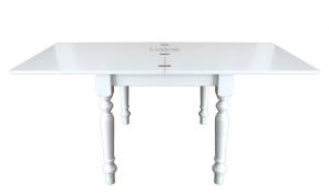 Tisch quadratisch 100x100 cm als Buch