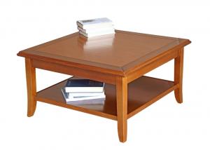 PROMO ! Table de salon carrée en bois cm 80x80