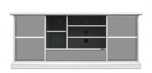 Meuble Tv 160 cm largeur noir et blanc