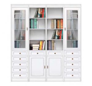 Bücherregal Wohnwand aus Holz