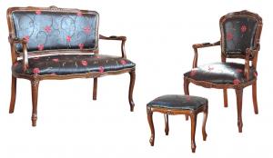 Sofa mit Polstersitz aus Kunstleder