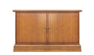 Niedriger Schuhschrank aus Holz mit 2 Türen