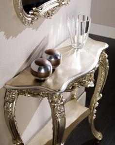 Konsoltisch Silberblatt im Stil Versailles