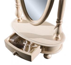 Miroir basculant inclinable sur pied