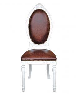 Chaise médaillon ovale et pieds cannelés