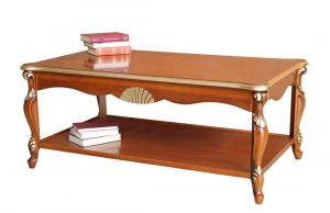 Table basse de salon avec étagère
