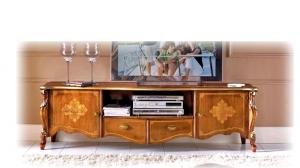 Lowboard mit Intarsie Gold-Style