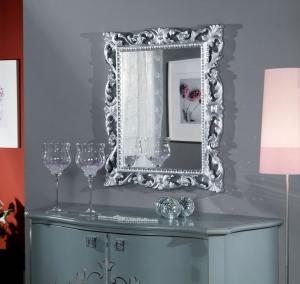 Spiegel mit silberen Rahmen Classic-1