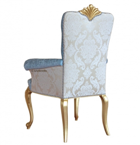 Chaise Luxe Gold avec accoudoirs