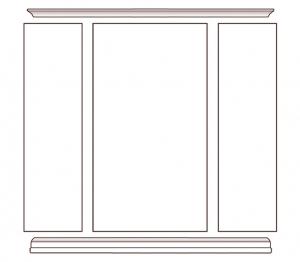 Wandmöbel mit Türen Office