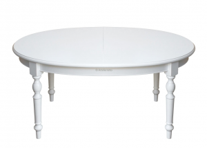 Table ovale de repas à rallonge
