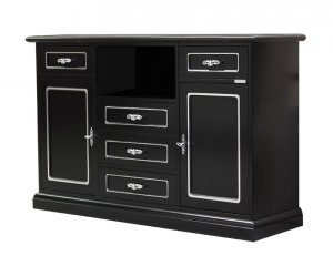 Buffet meuble TV Black Silver Fashion