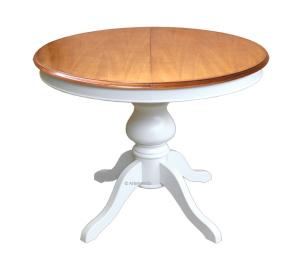 Tisch rund ausziehbar 2 Farben 100 cm