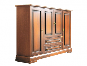 Grand meuble buffet multifonction 4 portes