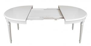 Ovaler Tisch Empire lackiert 130-210 cm